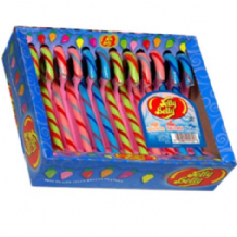 Jelly Belly Candy Canes 12pk Watermelon-Tuttii Fruitti-Blueberry